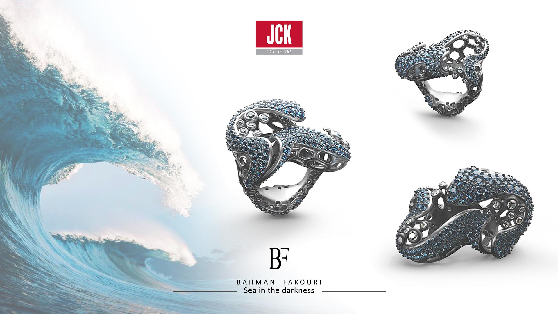 طراحی طلا و جواهرات| بهمن فکوری | Bahman Fakouri | نمایشگاه لاس وگاس